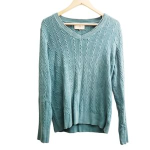 Sonoma Ribbed Cable Knit Pullover Sweater Top L XL